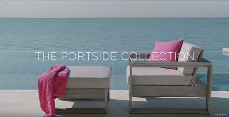 Elegant Outdoor Decor Ads - West Elm's Summer-Ready Commercial Promotes 'The Portside Collection'