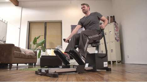Gym-Simulating Video Games - SymGym's Physical Video Games Combine Gaming and Strength Training