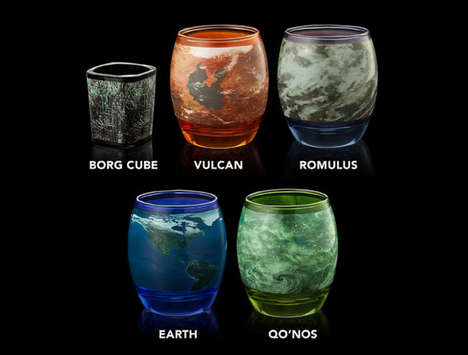 Galatic Sci-Fi Glassware - The Star Trek Glass Mug Set Recreates The TV Show's Planets