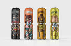 Noble Rey Brewery's Canned Drinks Feature Quirky Figures
