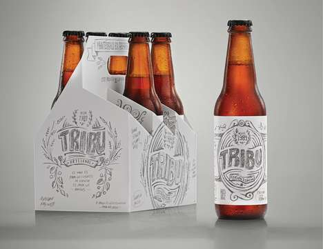 Sketched Beer Branding - The Tribu DDBº Agency Created a Sketch Design Beer for Clients