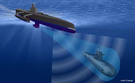 Unmanned Military Vessels - This Vessel is Designed to Track Hostile Submarines