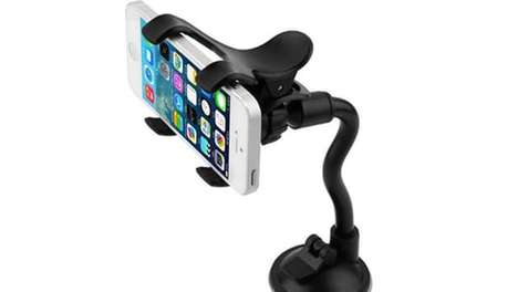 Flexible Car Mounts - The Layze Flexible Mount Helps You Control Your Phone's Viewing Angle