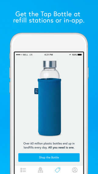Water Fountain-Locating Apps - The 'Tap' App Helps You Find Water Fountains and Avoid Buying Bottles