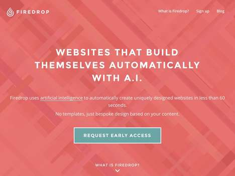 AI Website Builders - Startup Firedrop Builds Websites Automatically in Less Than One Minute