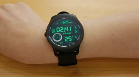 Interactive Smartwatch Designs - The Ticwatch 2 From Mobvoi is Extremely Easy to Interact With