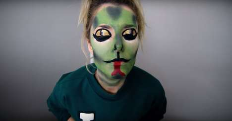 Celebrity Feud Face Makeup - Grace Helbig Demonstrates DIY Snake Makeup Inspired By Kim and Taylor