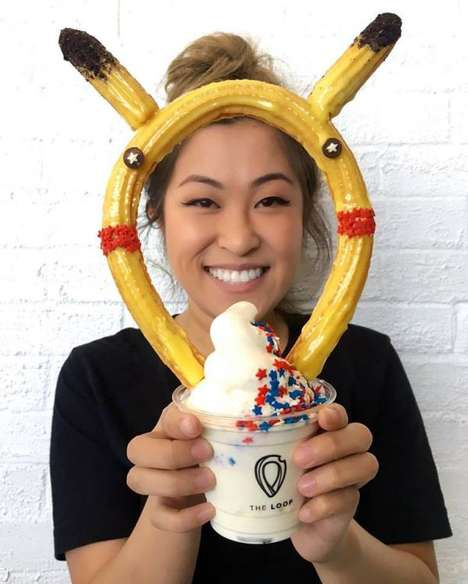 Anime-Inspired Churros - This Churro Ice Cream Creation From The Loop Bakery Looks Like Pikachu