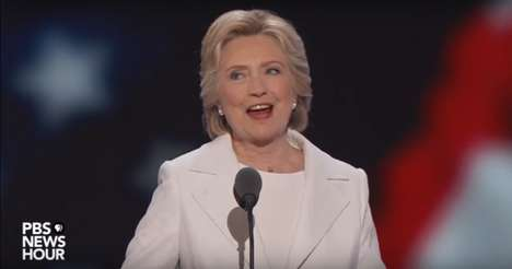 Breaking Glass Ceilings - Hillary Clinton's Nomination Speech is on Public Service and Female Rights