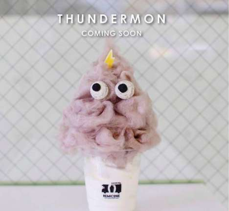Candied Hairstyle Desserts - Remicone's 'Thundermon' Replicates Hair Using Candy Floss Treats