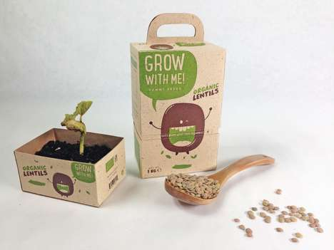Eco Plant Packaging - 'Grow with Me' Herb Garden Kits Come in Double-Duty Biodegradable Boxes