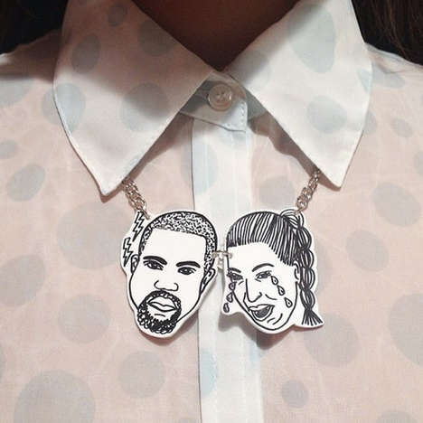 Celebrity Couple Statement Necklaces - Etsy's Kimye Necklace Celebrates the Famed Romantic Duo