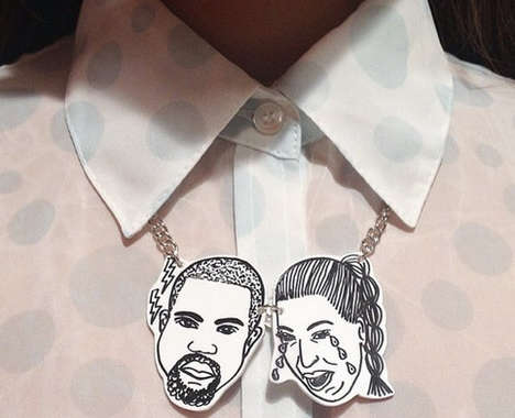 Celebrity Couple Statement Necklaces