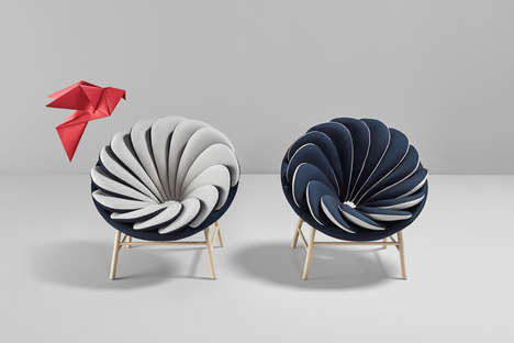 Colorful Avian Armchairs - The Quetzal is a Wingback Chair in an Atypically Conceptual Sense