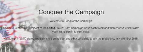 Political Fantasy Games - Conquer the Campaign Allows Users to Compete for Presidency of the USA