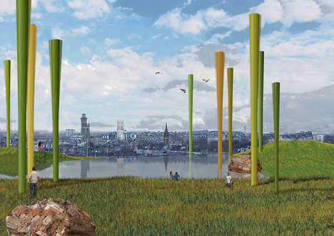 Arboreal Wind Turbines - 'Wind Forest' Creates Green Energy in Style