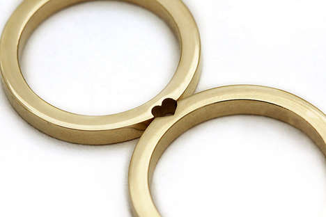 Minimal Matching Wedding Bands - These Rings Connect to Form Various Shapes