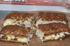 Pizza-Based Breakfast Sandwiches - Little Caesars' New Pizzini Sandwich Turns Pizza into Breakfast