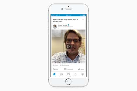 Professional Networking Videos - Users Can Now Record Themselves on LinkedIn Video