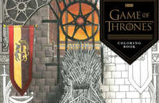 Fantasy-Themed Coloring Books - This Intricate Coloring Book is Inspired by Game of Thrones