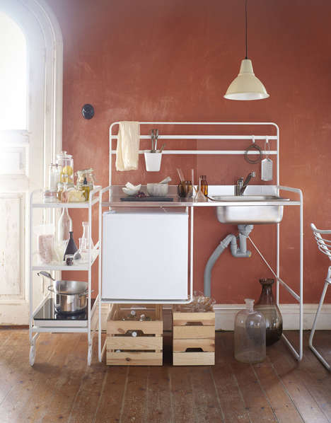 Affordable Compact Kitchens - IKEA's Sunnersta Mini-Kitchen is a Kitchen Set for Cramped Spaces
