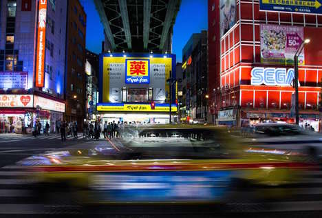 Contrastive Urban Photography - Skander Khlif Documents Vibrant Tokyo Lights and Candid City Scenes