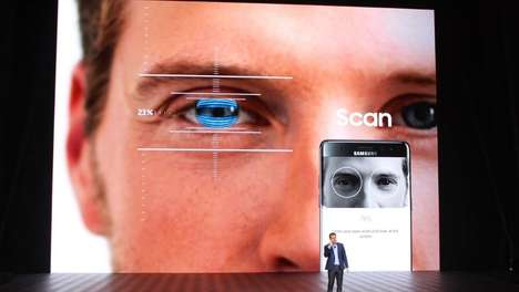 Eye-Scanning Consumer Smartphones - Samsung's Galaxy Note 7 will be Equipped with an Iris Scanner