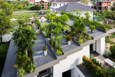 Residental Rooftop Gardens - This Vietnamese Home Features an Expansive Garden on Its Roof
