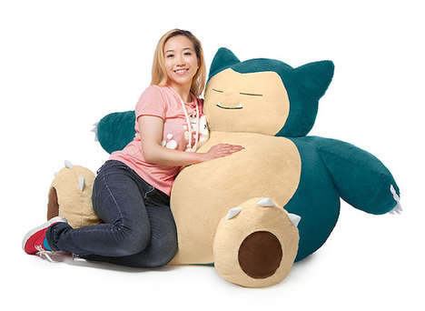 Anime-Inspired Lounge Chairs - This Giant Pokémon Bean Bag Chair Allows Fans to Rest Comfortably