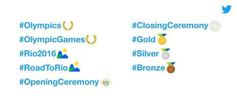 Olympic Game Emojis - Twitter has Released All the Emojis to Be Used During the Rio Olympic Games