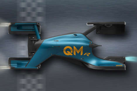 Levitating Quantum Race Cars - The QMR Offers a Futuristic Vehicle That Hovers Around the Race Track