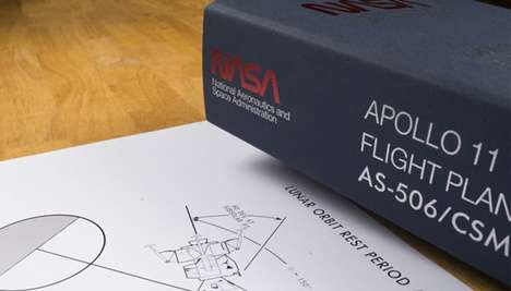 Space Memorabilia Books - This Book Offers Recreated Depictions Of the Apollo 11 Flight Plans
