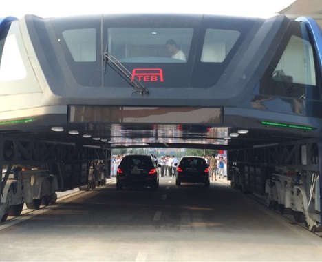 Traffic-Alleviating Elevated Buses