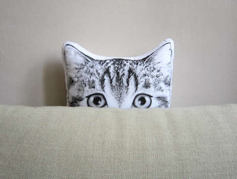 Animal-Shaped Pillows - These Plush Pillows Were Hand-Painted by the Artist Who Created Them