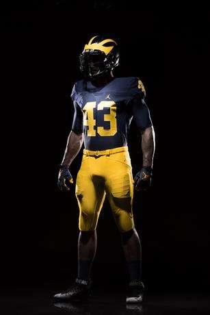 Breathable Football Apparel - The University of Michigan Football Jersey Was Designed By Jordan