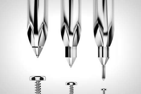 Shapeshifting Screwdriver Tools - This Screwdriver Concept Changes Shape to Fit the Size of Screws