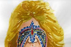 Wrestler And Budgies Paintings by Rhys Coren