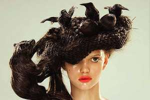 Nagi Noda's Hair Hats Are Freakishly Wild