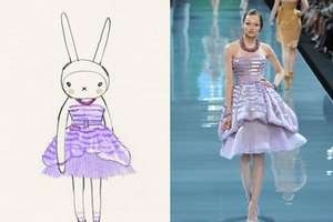 Fifi Lapin Interprets Fashion From Fab Designers