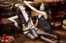 Black Magic Lingerie - 'The Season of the Witch' Campaign by Agent Provocateur