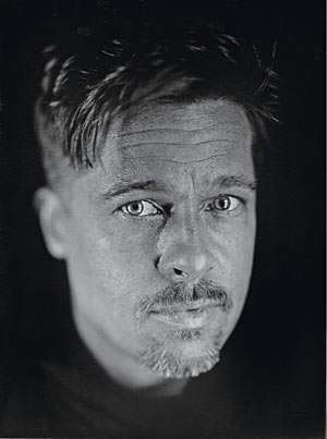 Rebelling Against Photoshop - Flawed Brad Pitt Exposed by Chuck Close in W Magazine