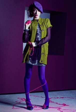 Electric-Hued Yarn Fashion