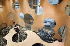 Bubbly 'Boolean' Interior Installation at U of Tokyo