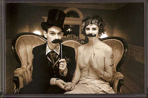 A Magician and His Assistant Wed 1920's Style