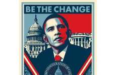 Inaugural Street Art - Shepard Fairey Releases Next Iconic Obama Poster for 2009