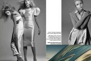 Futuristic Chic in 2009 Vogue Italia 'Evolution'