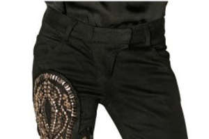 Balmain Ankh Embellished Denim Available Online