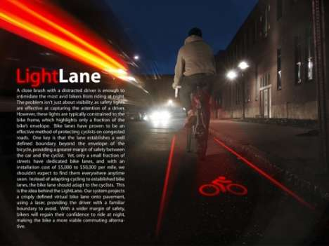 Laser-Projected Bike Paths