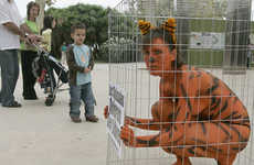 Nude Shockvertising - AnimaNaturalis Strips Women for Animal Rights