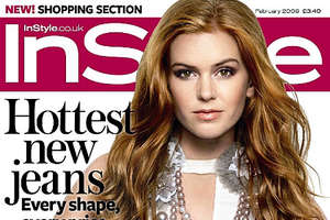 Isla Fisher Dawns Giant Beads on February 2009 InStyle Cover